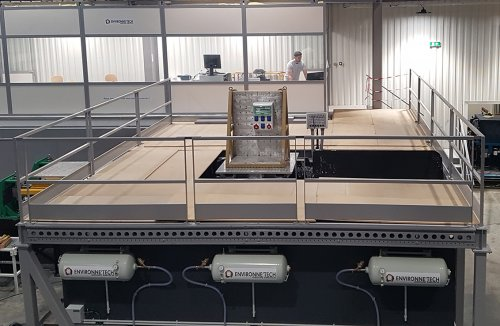 Installation of a new, large-volume, biaxial seismic bench at Environne'Tech