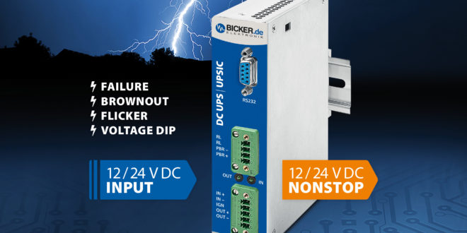 Maintenance-free DC UPS modules for DIN rail mounting protect against power failure, brownout and flicker